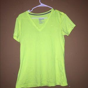 Nike lime green athletic shirt